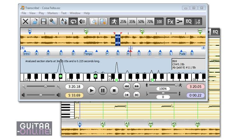 Transcribe logiciel pour transcrire la musique autres logiciels de musique guitare online - Logiciel pour couper la musique ...