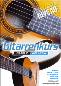 Gitarrenkurs mit Video, Band II, durchschnittliches Niveau