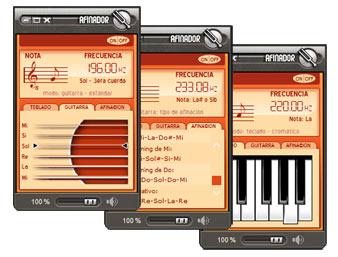Afinador Multi-Instrumentos para guitarra, mandolina, ukulele, violín, banjo & bajo