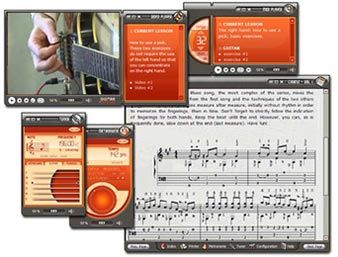 Métodos de guitarra y programas PC de música