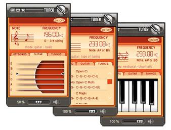Accordeur Multi-Instruments pour guitare, mandoline, ukulélé, violon, banjo & basse