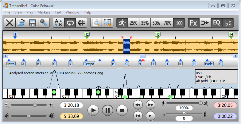 Transcribe! - Powerful swiss knife for musicians