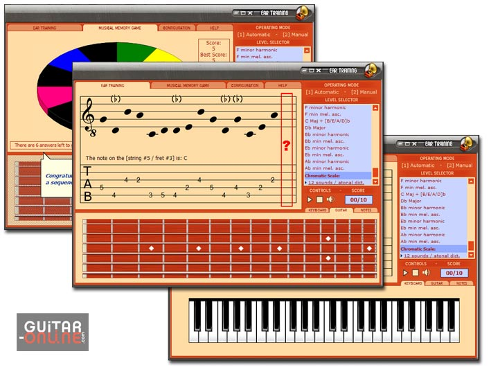 This software will help you develop tonal memory skills in recognizing notes.