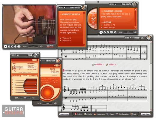 Screenshot vom Programm: How to Play the Guitar Vol 1